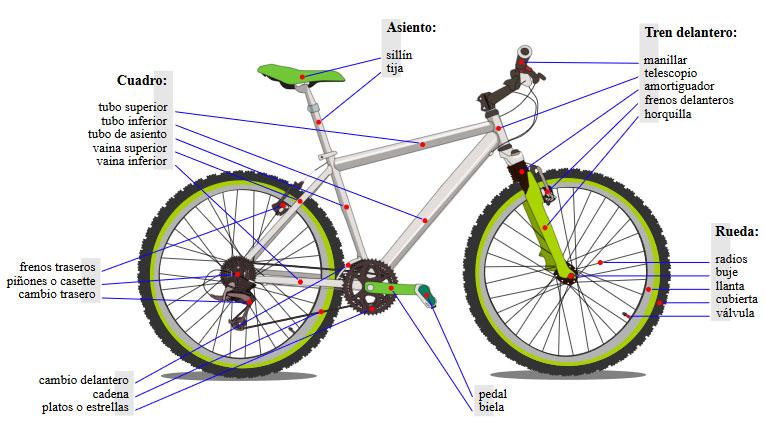 ▷Partes de una Bicicleta: Guía completa enero 2019
